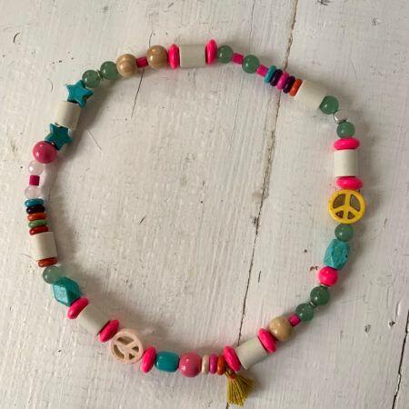Antizecken-Halskette mit EM-Perlen nd Aventurin, wirkt entressend und entspannend