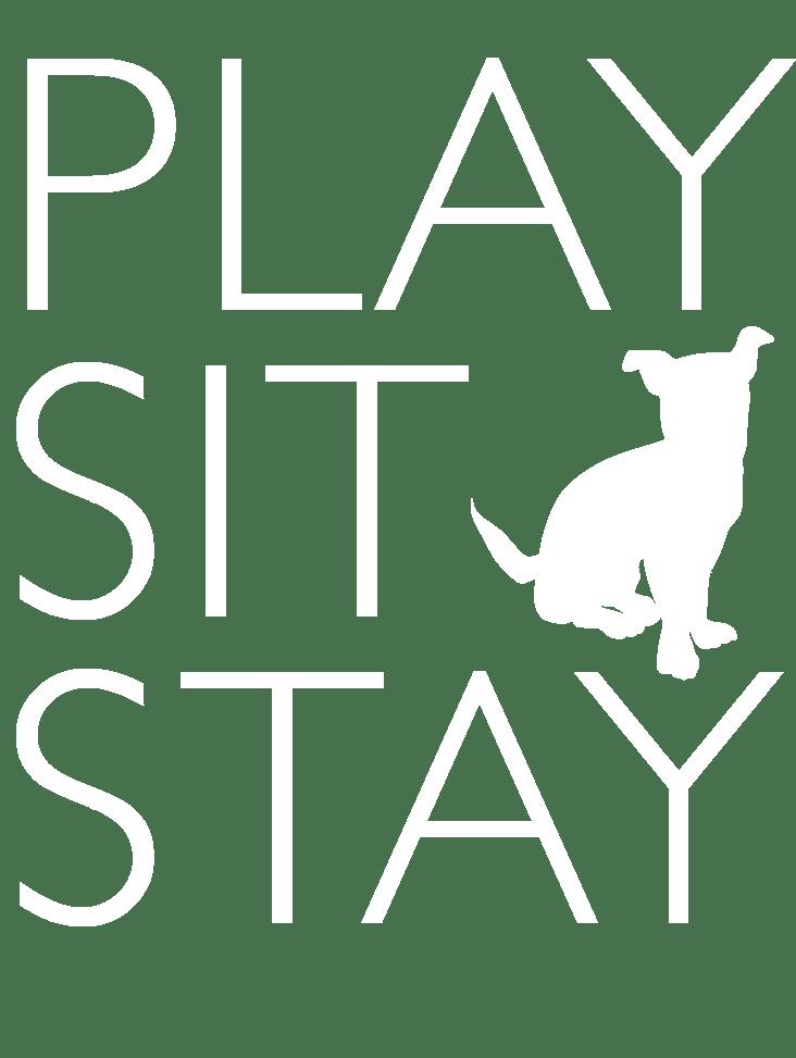 Logo play-sit-stay.com Melanie Kranz zertifizierte Hundetrainerin und Verhaltensberaterin