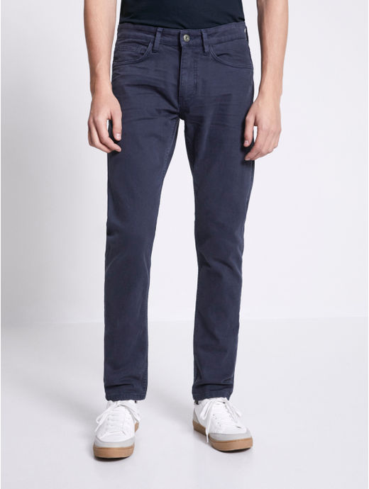 Navy Straight Fit Chinos