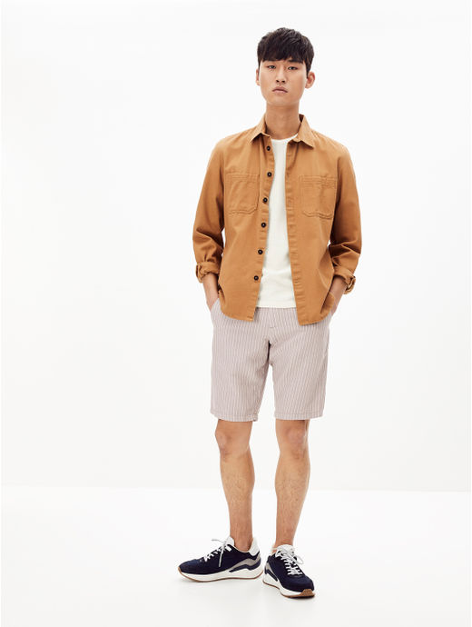Grey Solid Regular Fit Shorts