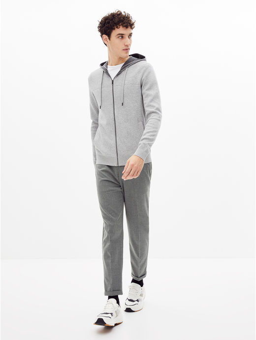Grey Tapered Chinos