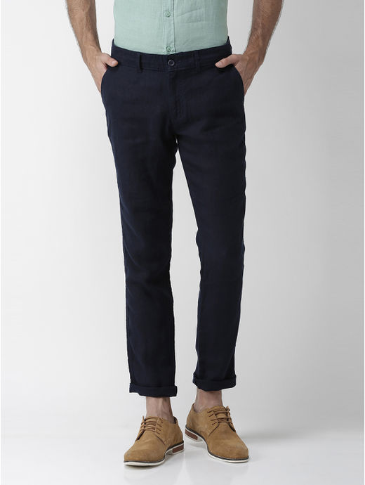 Charcoal Solid Straight Jeans