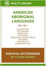 AMERICAN LANGUAGES SURVIVAL DICTIONARIES (SET 1 OF 1) AMERICAN LANGUAGES DICTIONARIES