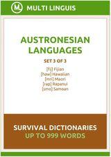 AUSTRONESIAN LANGUAGES SURVIVAL DICTIONARIES (SET 3 OF 3) MAORI LANGUAGE DICTIONARIES