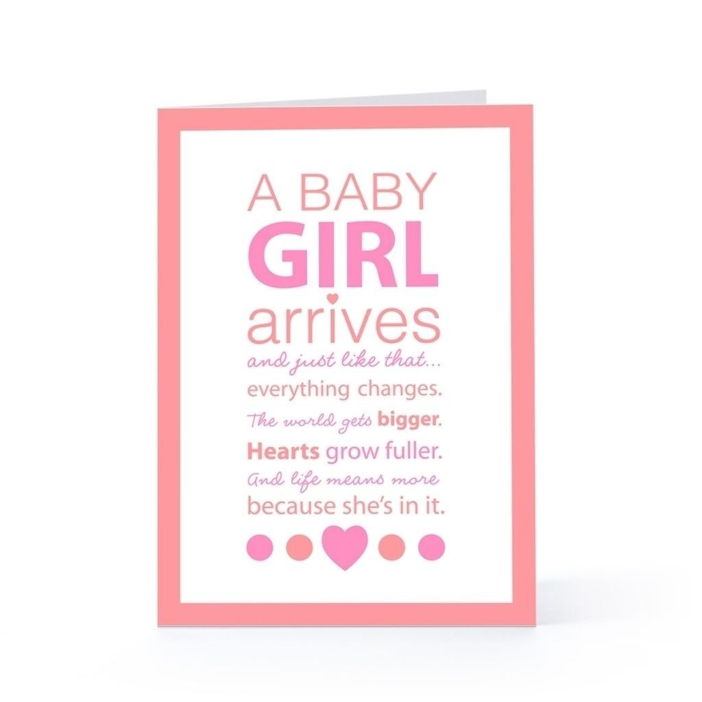 a baby girl arrives