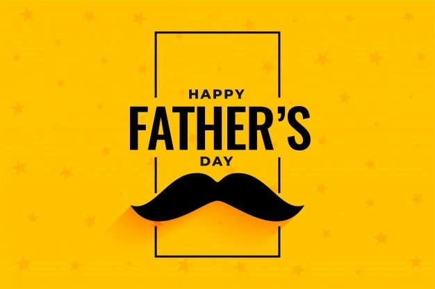 flat-style-happy-fathers-day-yellow-banner