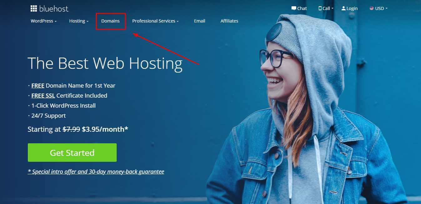 Buy Domain From BlueHost