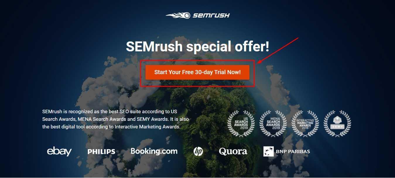 semrush 30 days trial, semrush free trial, semrush guru trial, semrush trial