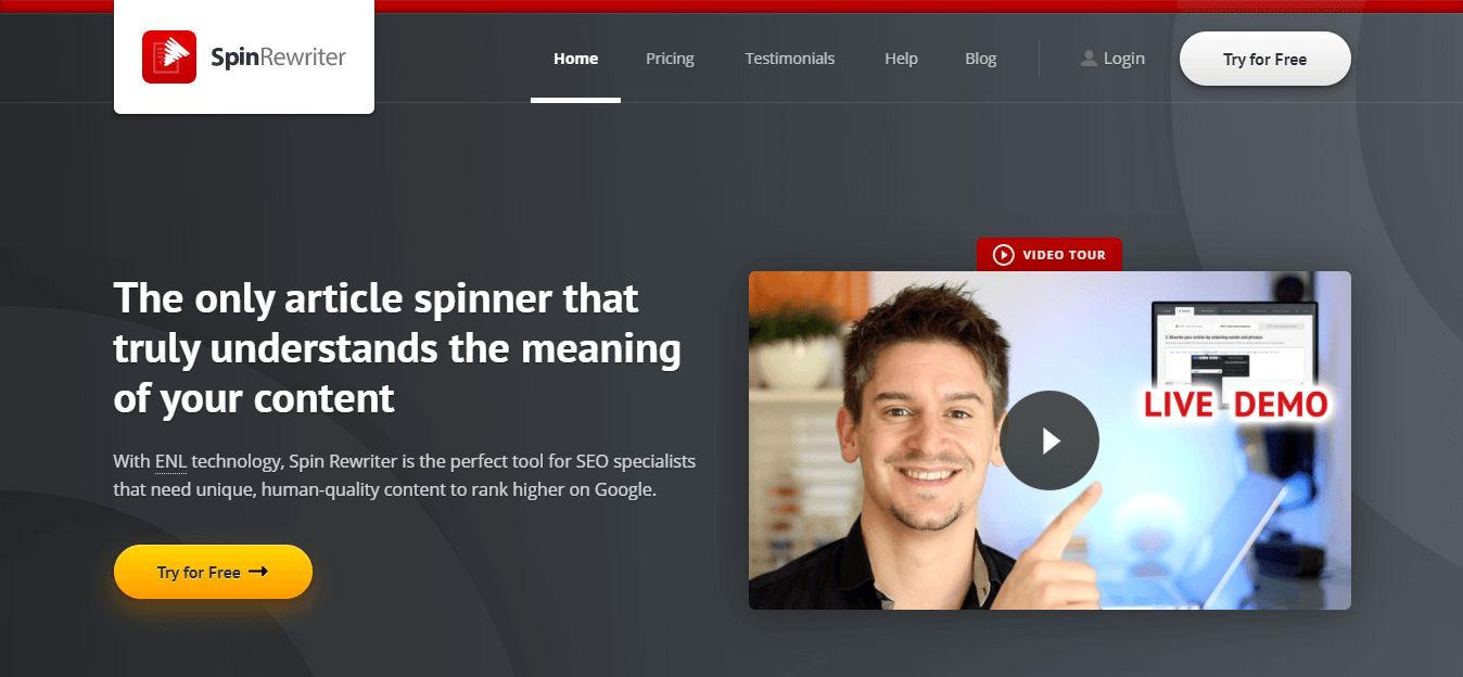 spin rewriter paraphrasing tool