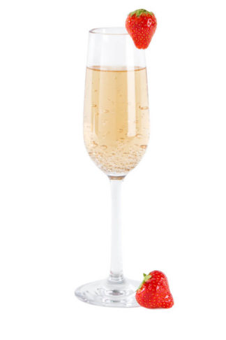 falsterbo champagne 17cl - champagne and strawberries in premium unbreakable polycarbonate glass from barcompagniet