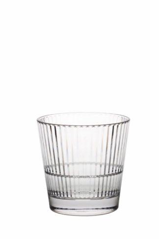 Stripe 355 Rocks, 35cl premium okrossbart polykarbonat glas från Barcompagniet