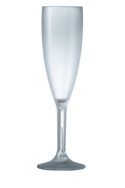 Champagne glass 6oz 17cl frosted premium unbreakable polycarbonate glass from barcompagniet