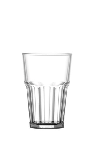 Tumbler drink glass 14oz/40cl premium unbreakable polycarbonate plastic glass from Barcompagniet