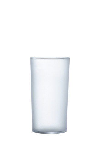 Tumbler hi-ball drink glass 28cl frosted premium polycarbonate plastic glass from Barcompagniet