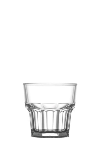 Tumbler Rocks 7oz 20cl premium unbreakable polycarbonate plastic glass from Barcompagniet