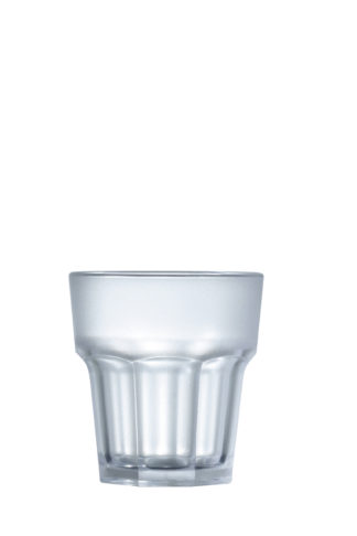 Tumbler Rocks Frosted 9oz 26cl frosted premium unbreakable polycarbonate plastic glass from Barcompagniet