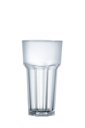 Tumbler tall drink frosted glass 12oz 34cl premium unbreakable polycarbonate plastic glass from Barcompagniet