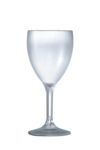 Wine glass 9oz 26cl frosted premium unbreakable polycarbonate plastic glass from Barcompagniet