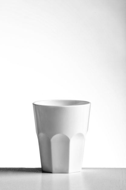 Tumbler rocks granity glass 27cl in White opaque premium unbreakable polycarbonate from Barcompagniet