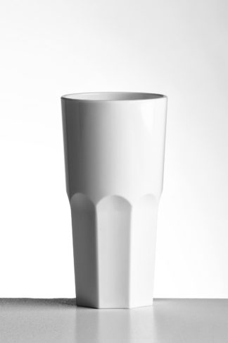 Tumbler Tall granity glass 36cl in White opaque premium unbreakable polycarbonate from Barcompagniet