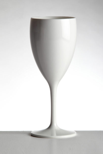 Wine glass 32cl in White opaque premium unbreakable polycarbonate from Barcompagniet