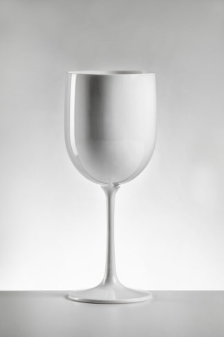 wine glass in White Opaque premium unbreakable polycarbonate from Barcompagniet
