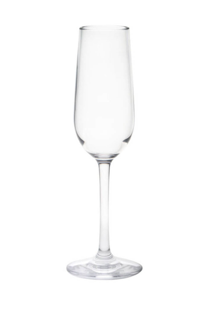 falsterbo champagne 17cl - empty premium unbreakable polycarbonate glass from barcompagniet