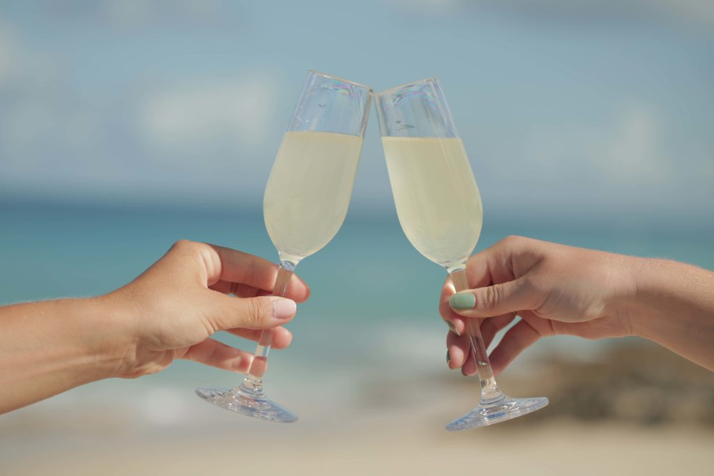falsterbo champagne 17cl - celebrating and toasting on beach with premium unbreakable polycarbonate glass from barcompagniet
