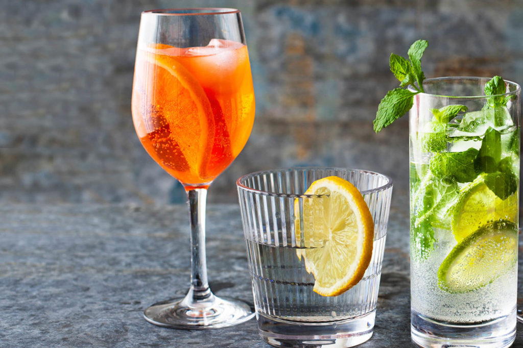 Falsterbo wine glass 32cl, with aperol spritzer in a premium unbreakable polycarbonate plastic glass from barcomapgniet