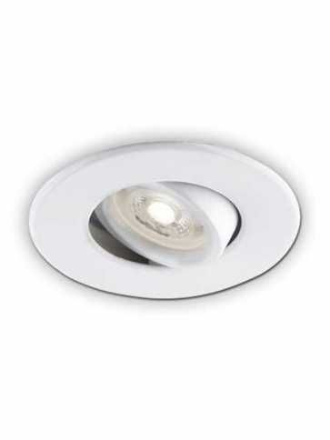bazz 310 series 7w led recessed light matte white 310lawm4 (4-pk)