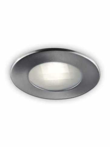 bazz lednax series 7w led recessed light brushed chrome 330lab