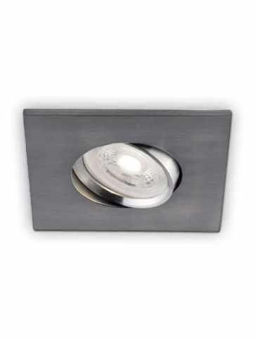 bazz ledmini series 7w led square recessed light brushed chrome 333lab
