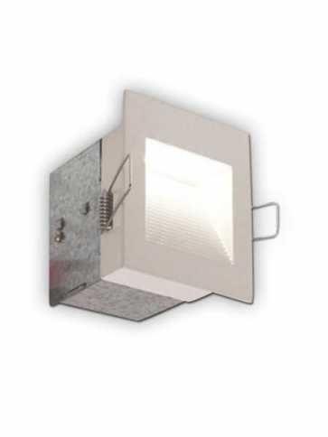 bazz wall-mounted 1.5w led recessed light white trim strl1w -1