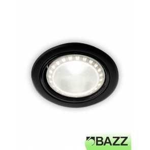 bazz 410 series 11w led recessed exterior light black 410l11b