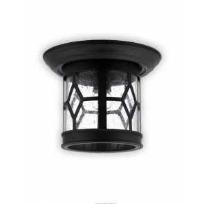 canarm atlanta series outdoor ceiling light black finish iol207bk