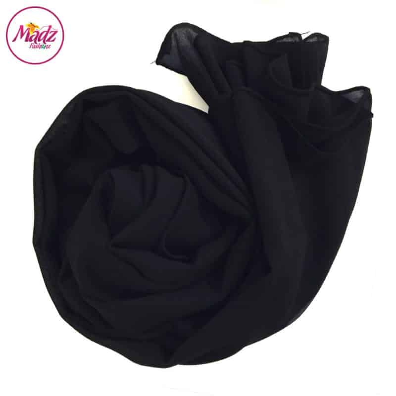 Long Plain Chiffon Black Muslim Hijabs Scarves Shawls