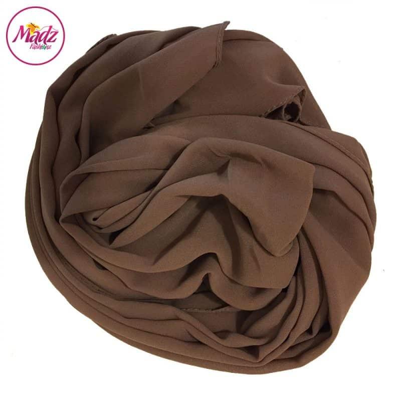 Long Plain Chiffon Khaki Muslim Hijabs Scarves Shawls