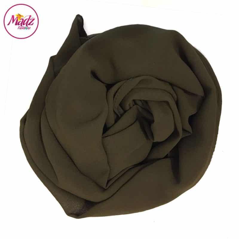 Long Plain Chiffon Olive Muslim Hijabs Scarves Shawls