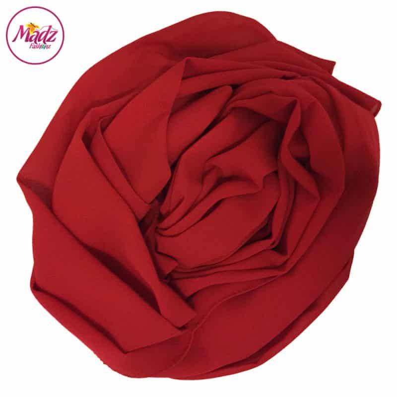 Long Plain Chiffon Red Muslim Hijabs Scarves Shawls