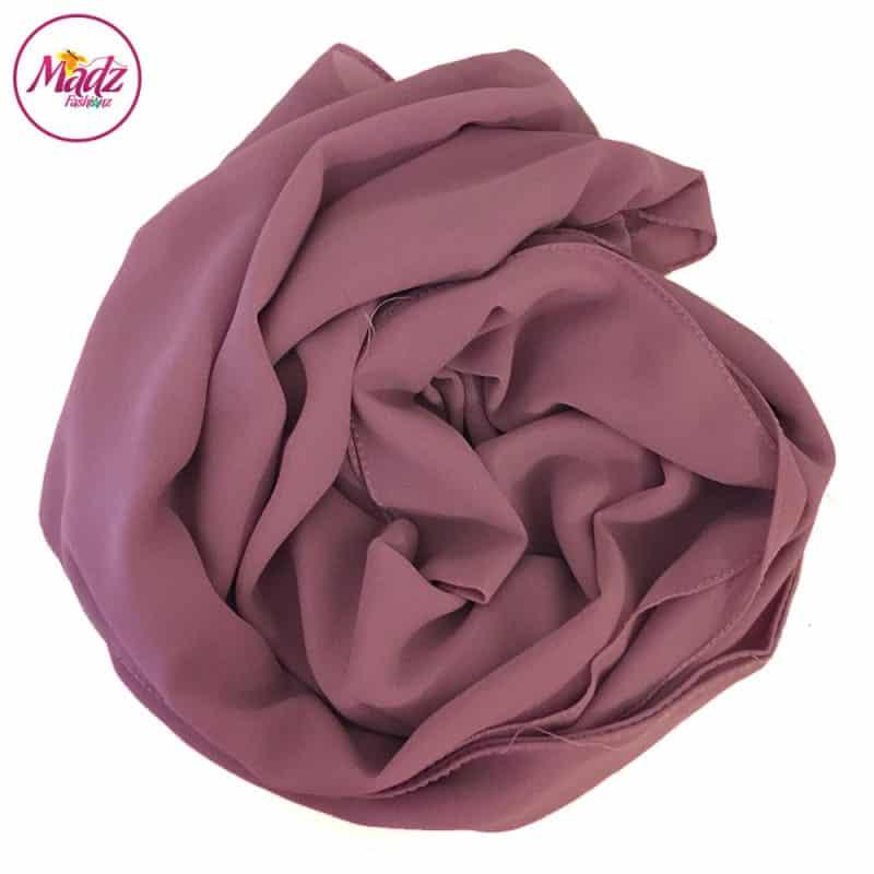 Long Plain Chiffon Rose Muslim Hijabs Scarves Shawls