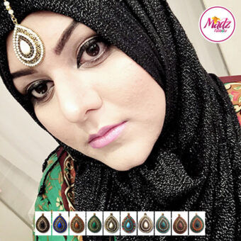Madz Fashionz UK: Madzfashionz Chandelier Tikka Maang Tikka Gold