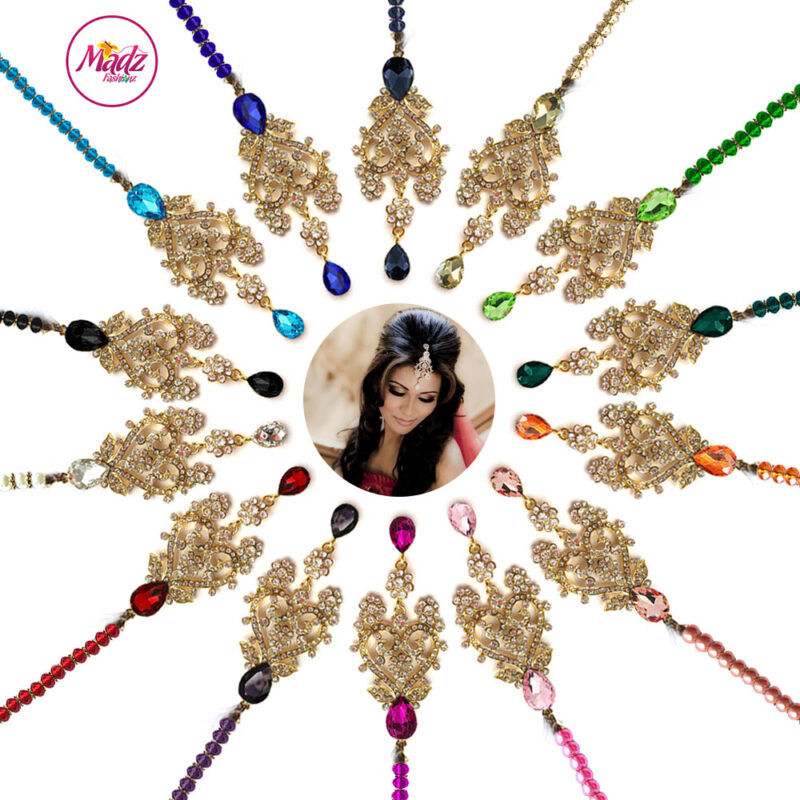 Madz Fashionz UK: Mahreen Inspired Chandelier hair Headpiece Headchain Maang Tikka Gold Silver