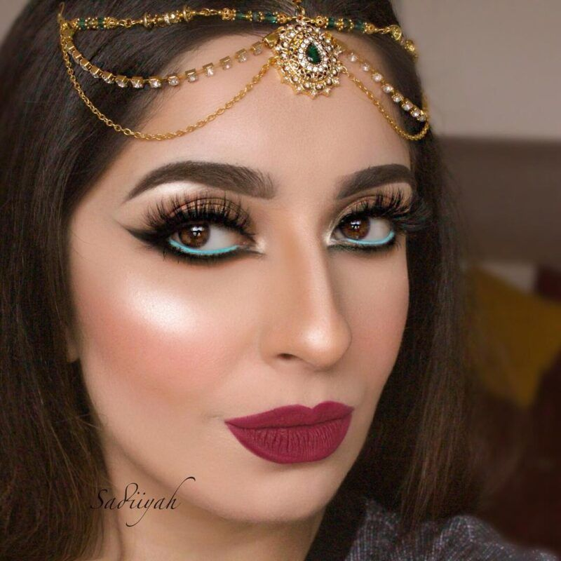 Madz Fashionz UK: Sadiiyah Bridal Matha Patti Headpiece Gold Sky Blue Red Green