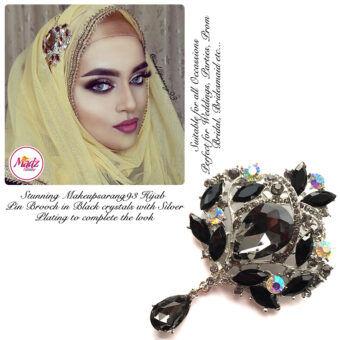 Madz Fashionz UK: Makeupsarang93 Elegant Brooch Hijab Pin Silver Black