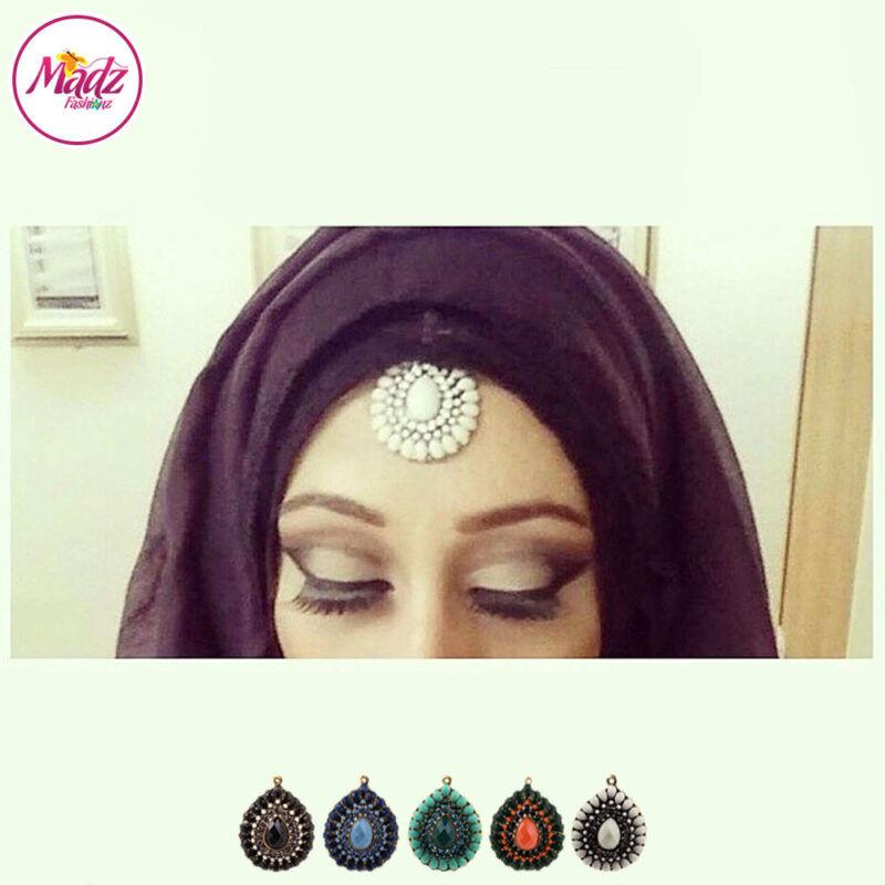 Madz Fashionz UK: Habibi_henna Vintage Drop Hair Tikka Gold Black Navy Blue Orange Green White