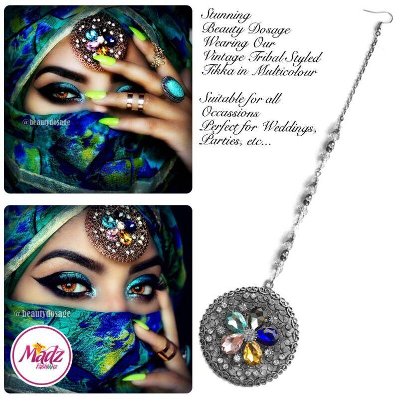 Madz Fashionz USA: Beautydosage Mandala Maang Tikka Gold Multicolour