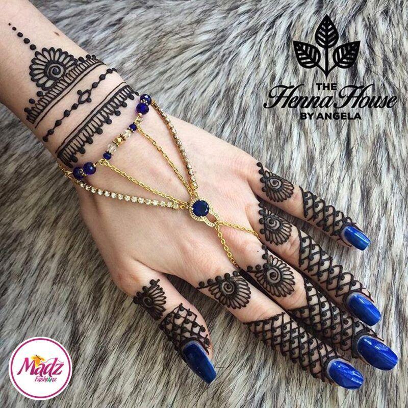 Hennabyang Panjas Hand Jewellery Cuff Bracelet - MadZ FashionZ UK