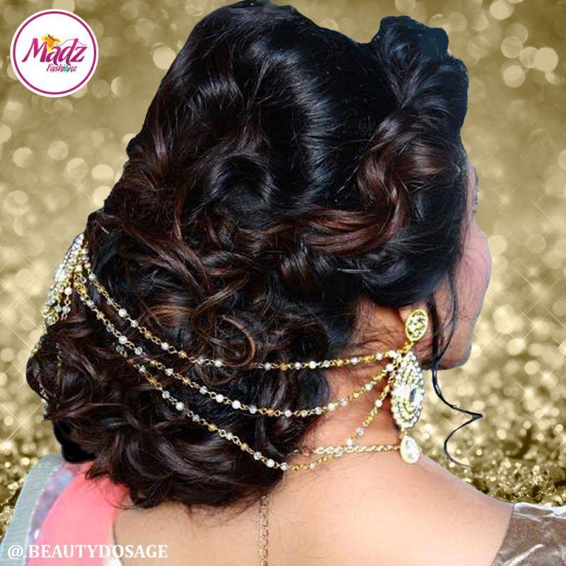 Madz Fashionz UK: Beautydosage Juda Bridal Hair Bun Headpiece Jodha Gold White 2