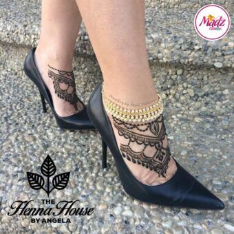 Madz Fashionz UK: Pearled Payal Anklet Chain Hennabyang Gold and Silver 2