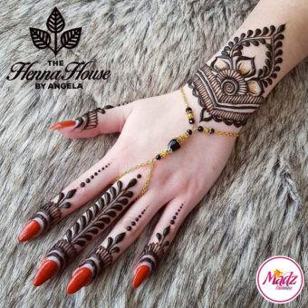 Madz Fashionz UK: Hennabyang Bespoke Crystal Slave Bracelet Handchain Delicate Gold Silver